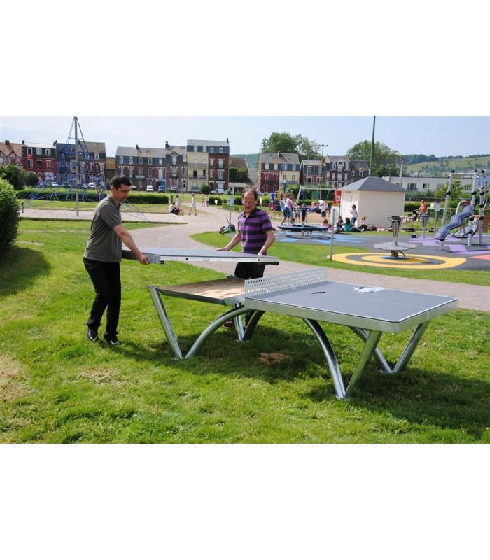 Cornilleau park table de ping pong silver equipment - Table ping pong exterieur cornilleau ...