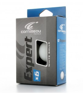 CORNILLEAU EXPERT X6 BLANCHES - BALLES TENNIS DE TABLE