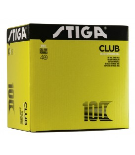 100 STIGA CLUB PLASTIC - BALLES TENNIS DE TABLE