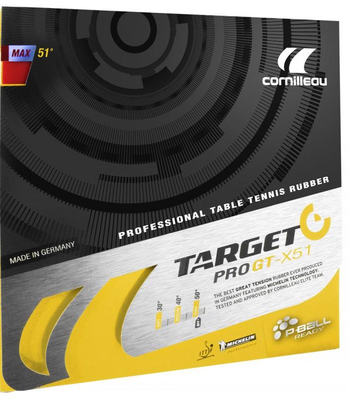 Cornilleau target pro gt x51 revetement tennis de table for Revetement court de tennis