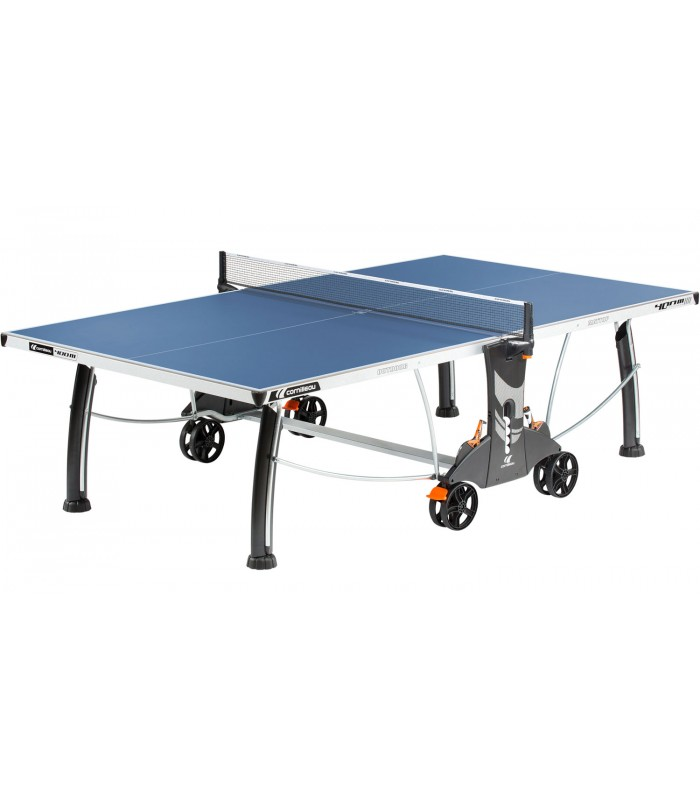 Cornilleau 400 m crossover outdoor bleu table tennis de for Table de tennis de table exterieur