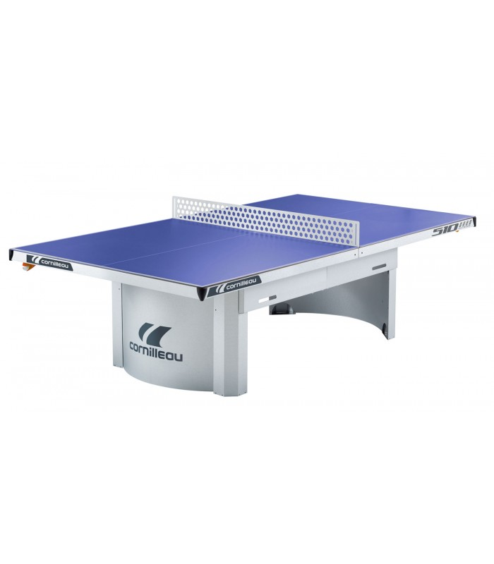 Cornilleau 510 m outdoor bleu table ping pong exterieur silver equipment - Table ping pong cornilleau outdoor ...