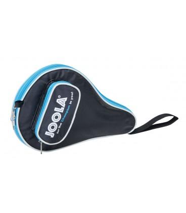 Housse de raquette de ping pong joola pocket bleu silver for Housse de raquette