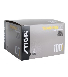 100 BALLES DE TENNIS DE TABLE STIGA TRAINER ABS