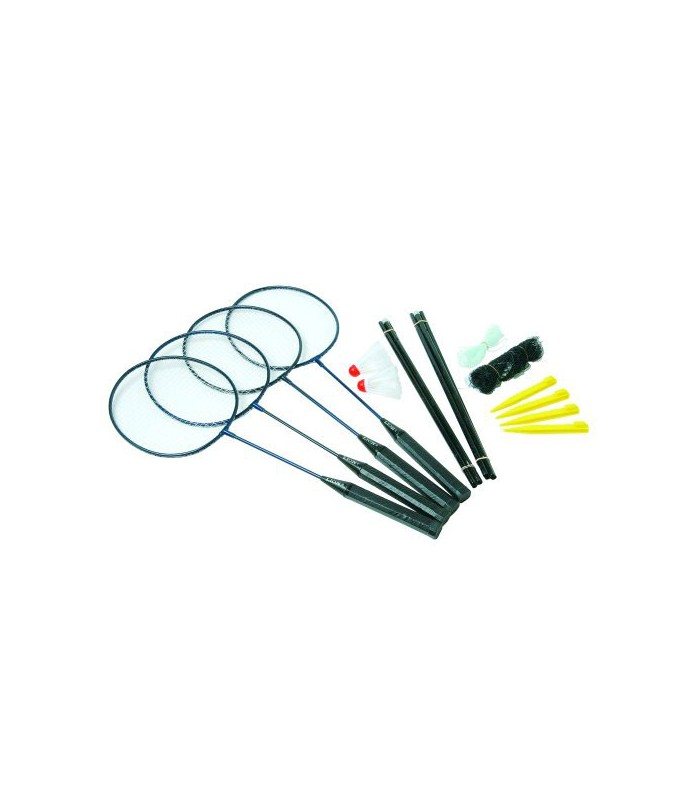 Set 4 raquettes badminton avec filet sunflex silver for Filet badminton exterieur