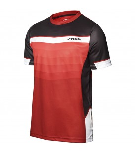 TEE-SHIRT DE TENNIS DE TABLE STIGA RIVER ROUGE