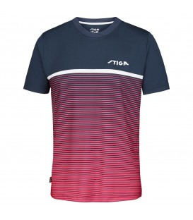 TEE-SHIRT DE TENNIS DE TABLE STIGA LINES ROSE