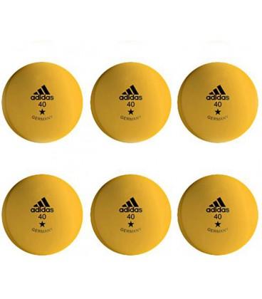 6 BALLES TENNIS DE TABLE ADIDAS 1 ETOILE