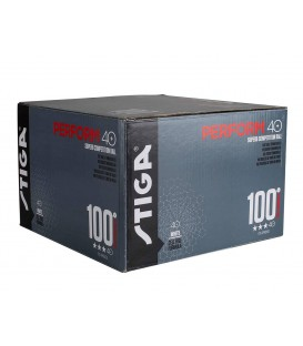 100 BALLES TENNIS DE TABLE DE COMPETITION STIGA PERFORM 40+