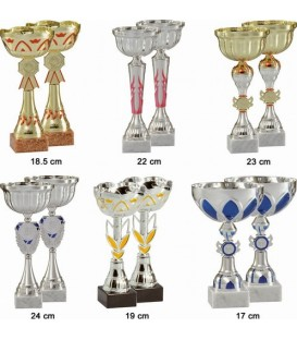 Lot de 12 coupes de 21 cm