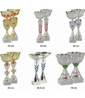 Lot de 12 coupes de 23 cm
