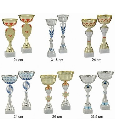 Lot de 12 coupes de 26 cm