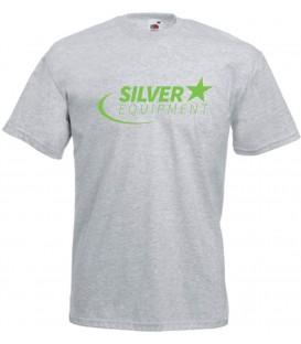 Tee-shirt Silver Coton Gris Vert