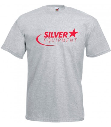Tee-shirt Silver Coton Gris Rouge