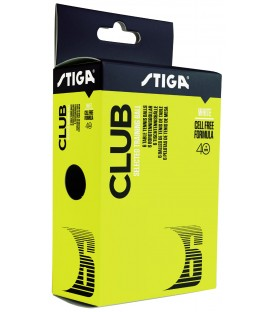6 STIGA CLUB PLASTIC - BALLES TENNIS DE TABLE