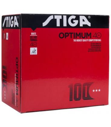 100 STIGA OPTIMUM PLASTIQUE 40+ - BALLES TENNIS DE TABLE
