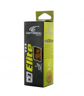 3 CORNILLEAU ELITE ITTF - BALLES TENNIS DE TABLE