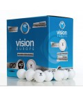 120 BALLES DE TENNIS DE TABLE VISION EUROPE BLANCHE