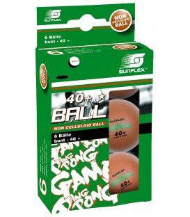 6 BALLES DE PING PONG SUNFLEX GAME