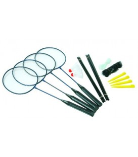 SET 4 RAQUETTES BADMINTON AVEC FILET SUNFLEX