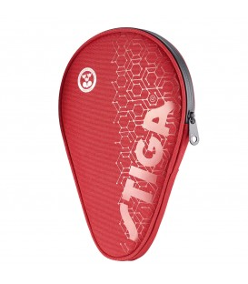 HOUSSE DE RAQUETTE DE PING PONG STIGA HEXAGON ROUGE