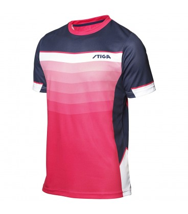 TEE-SHIRT DE TENNIS DE TABLE STIGA RIVER ROSE