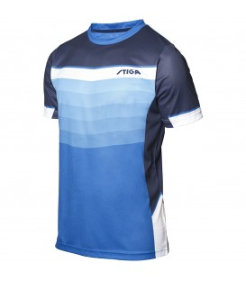 TEE-SHIRT DE TENNIS DE TABLE STIGA RIVER BLEU