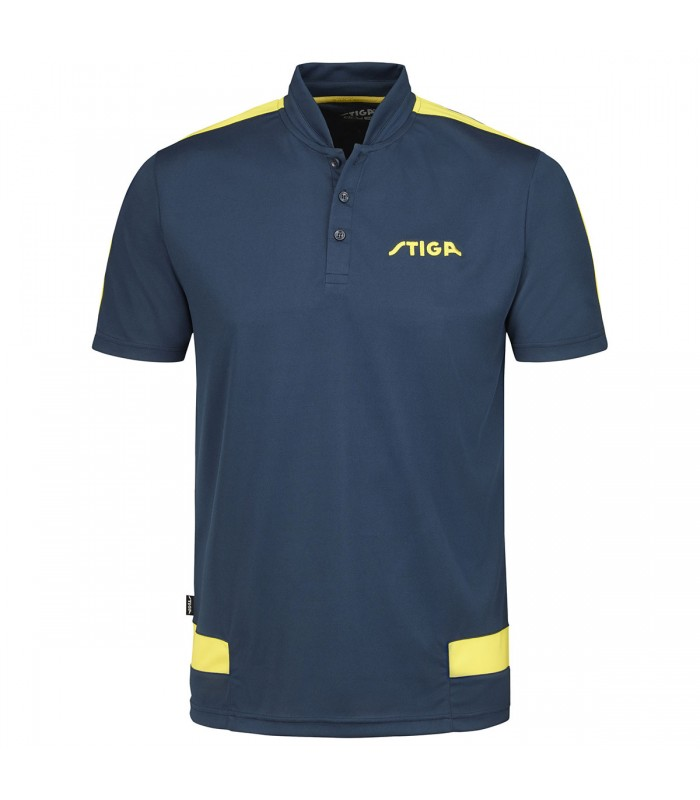 STIGA Short Fashion bleu marine//jaune-Tennis de Table