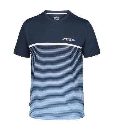TEE-SHIRT DE TENNIS DE TABLE STIGA LINES BLEU