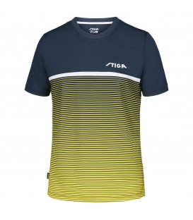 TEE-SHIRT DE TENNIS DE TABLE STIGA LINES JAUNE