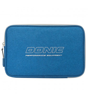 HOUSSE DE RAQUETTE DE TENNIS DE TABLE DONIC PIXEL BLEUE