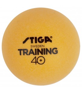 6 BALLES DE TENNIS DE TABLE STIGA TRAINER ABS ORANGE