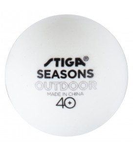 6 BALLES DE PING PONG STIGA SEASONS OUTDOOR