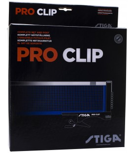 POTEAUX ET FILET DE TENNIS DE TABLE STIGA PRO CLIP