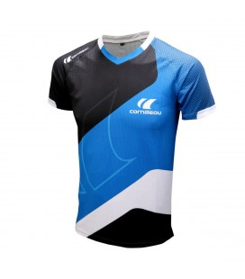 TEE-SHIRT DE TENNIS DE TABLE CORNILLEAU ICON BLEU