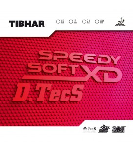 REVETEMENT DE TENNIS DE TABLE TIBHAR SPEEDY SOFT XD DTECS