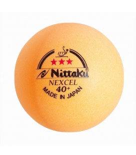 3 BALLES DE TENNIS DE TABLE NITTAKU 40+ NEXCEL ORANGE