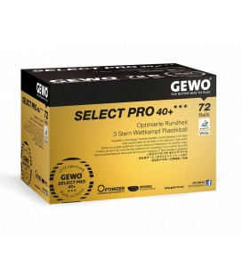 72 BALLES TENNIS DE TABLE DE COMPETITION GEWO SELECT PRO 40+