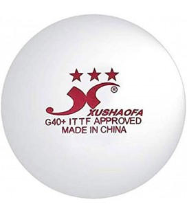 6 XUSHAOFA 3* PLASTIQUE ITTF - BALLES TENNIS DE TABLE