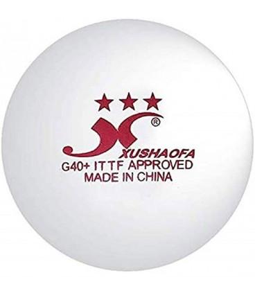 6 XUSHAOFA 3* PLASTIQUE ITTF - BALLES TENNIS DE TABLE