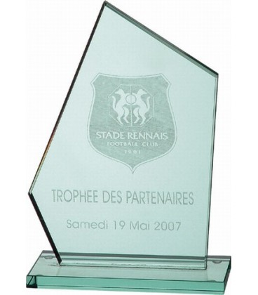 Trophée en cristal Challenge